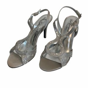 Lulu Townsend Heeled Sandals Silver Size 9 Buckled